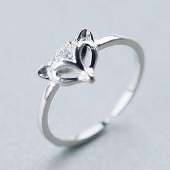 A'ROCH - 925纯银水钻狐狸纯银指环