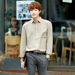 Seoul Homme - Stitched Oxford Shirt