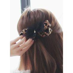 kitsch island - Leopard Bow Hair Pin