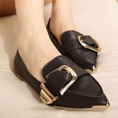 Mancienne - Buckled Pointy Flats