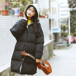 Sens Collection - Hooded Long Padded Coat