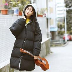 Sens Collection - 连帽长款夹棉大衣