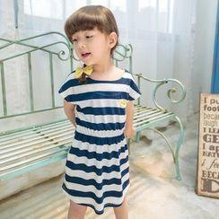 柠檬嘟嘟 - 小童条纹短袖连衣裙