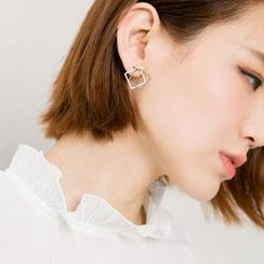 Heynew - Double Square Earrings
