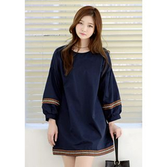 DEEPNY - Puff-Sleeve Embroidered Tunic