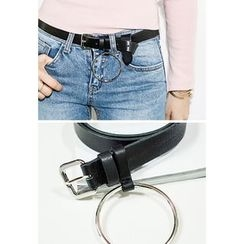 INSTYLEFIT - Metallic Ring Detail Belt
