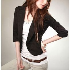 Dream Girl - Cropped Elbow Sleeve Blazer