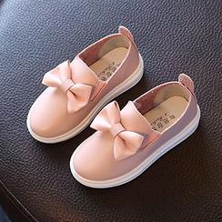绿豆蛙童鞋 - 蝴蝶结轻便鞋