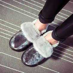 SouthBay Shoes - Furry Snow Slip-Ons