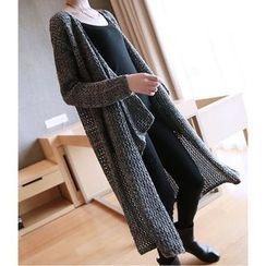 YIDIYU - Long Cable Knit Cardigan