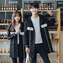 INUS - Couple Matching Hooded Long Trench Jacket