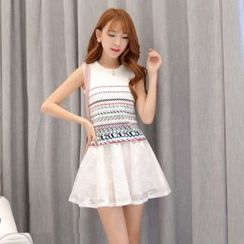 Romantica - Set: Pattern Tank Top + Skirt