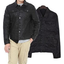 Seoul Homme - Single-Button Dual-Pocket Jacket