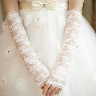 Luxury Style - Lace Fingerless Bridal Gloves