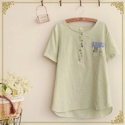Fairyland - Short Sleeves Embroidered T-shirt