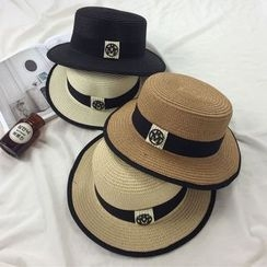 Pompabee - Piped Straw Hat