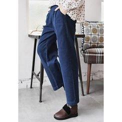 GOROKE - Band-Waist Wide-Leg Jeans