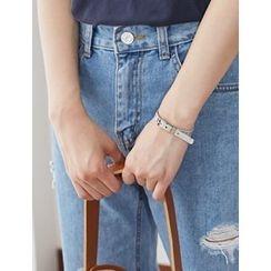 FROMBEGINNING - Metallic Belt Bracelet