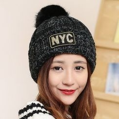 SHUMI - Lettering Knit Beanie