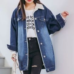 lilygirl - Fleece Lined Denim Jacket