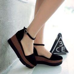 Pastel Pairs - Ankle Strap Platform Flats