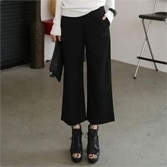 CHICFOX - Zip-Side Wide-Leg Pants