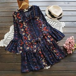 YOYO - Printed Chiffon Dress