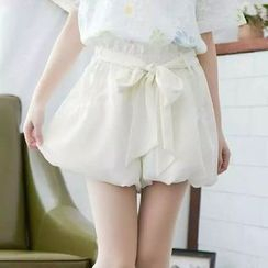 Storyteller - Bow Puff Chiffon Shorts