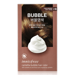 Innisfree - Camelia Bubble Hair Color (#2 Choco Brown) : 1. Colorant 30ml + 2. Oxidizing Agent 60g + 3. Treatment 8ml + Serum 8ml