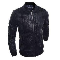 Fireon - Faux Leather Zip Jacket