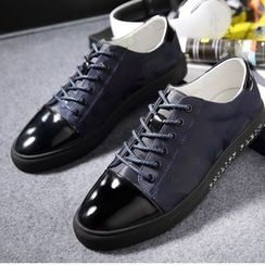 SHEN GAO - Paneled Lace-Up Sneakers