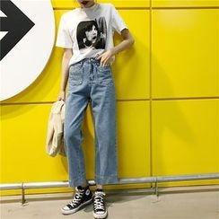Suyisoda - 宽脚牛仔裤
