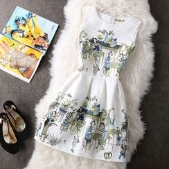 Fashion Street - Print Sleeveless Dress