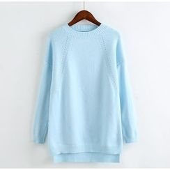 Blue Rose - Plain Knit Pullover