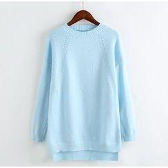 藍玫瑰衣坊 - 純色針織套衫