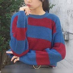 時尚麻豆家 - 條紋毛衣