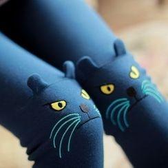 Cappuccino - Cat Applique Leggings