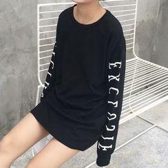 Cloud Nine - Letter Long-Sleeve T-shirt