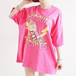 Ranee - 3/4-Sleeve Print T-Shirt