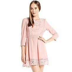 O.SA - 3/4-Sleeve Lace-Panel Dress