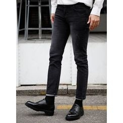 SCOU - Washed Slim-Fit Jeans