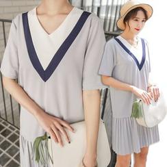 PPGIRL - 印花裹式連衣裙