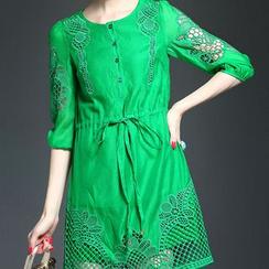 Alaroo - Long-Sleeve Lace Panel Dress