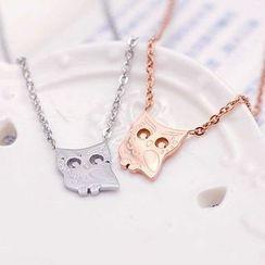 Claudette - Owl Necklace