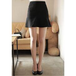 MyFiona - Zip-Back Ruffle-Hem Mini Skirt