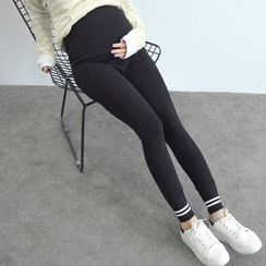 Oulimom - Maternity Striped Leggings