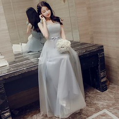 minako - Halter A-Line Evening Gown