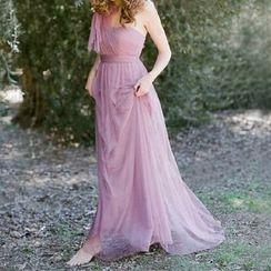 Silfon - One-shoulder Bridesmaid Dress