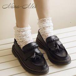 NANA Stockings - Ruched Lace Socks