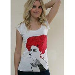 Bohemian - 贵妇印花 T 恤